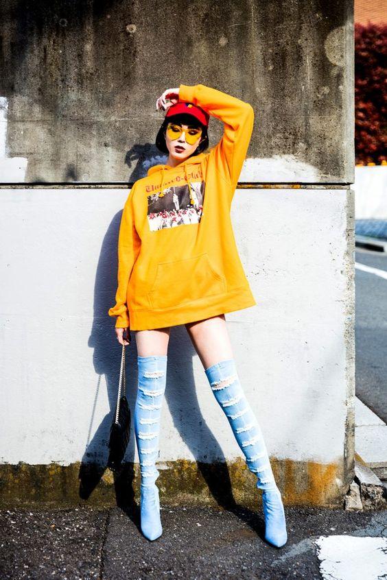 Đã mắt với style đường phố của giới trẻ Hàn Quốc