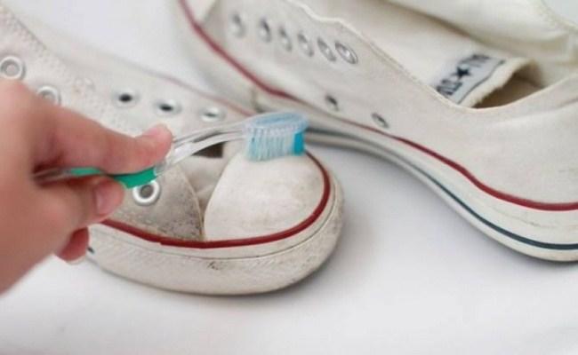 làm sạch giày trắng, lam sach giay trang