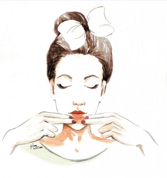 massage da mặt, massage da mat