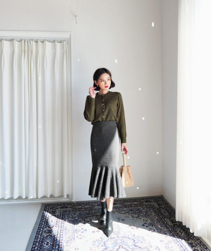 kiểu chân váy dành riêng cho mùa đông, kieu chan vay danh rieng cho mua dong