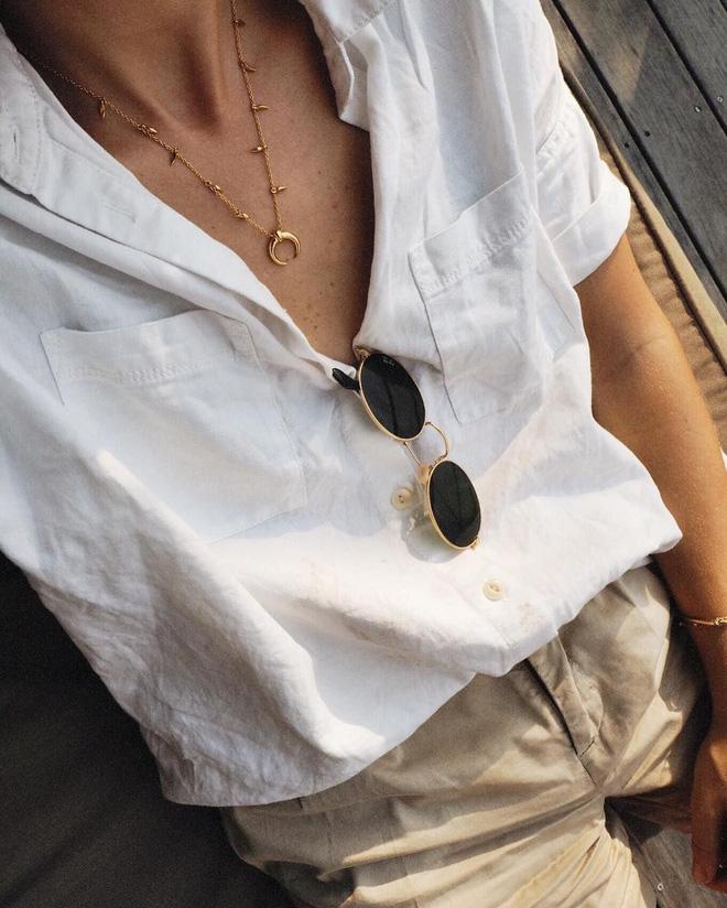 kết hợp phụ kiện với áo màu trắng, ket hop phu kien voi ao mau trang