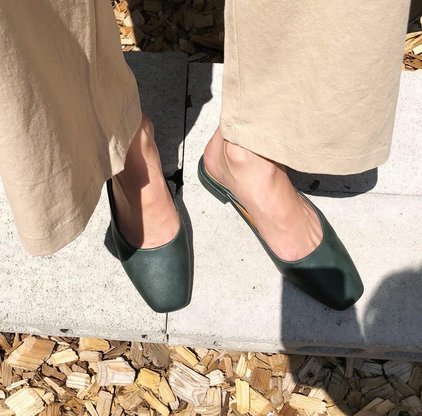 giày khuyết gót, giay khuyet got