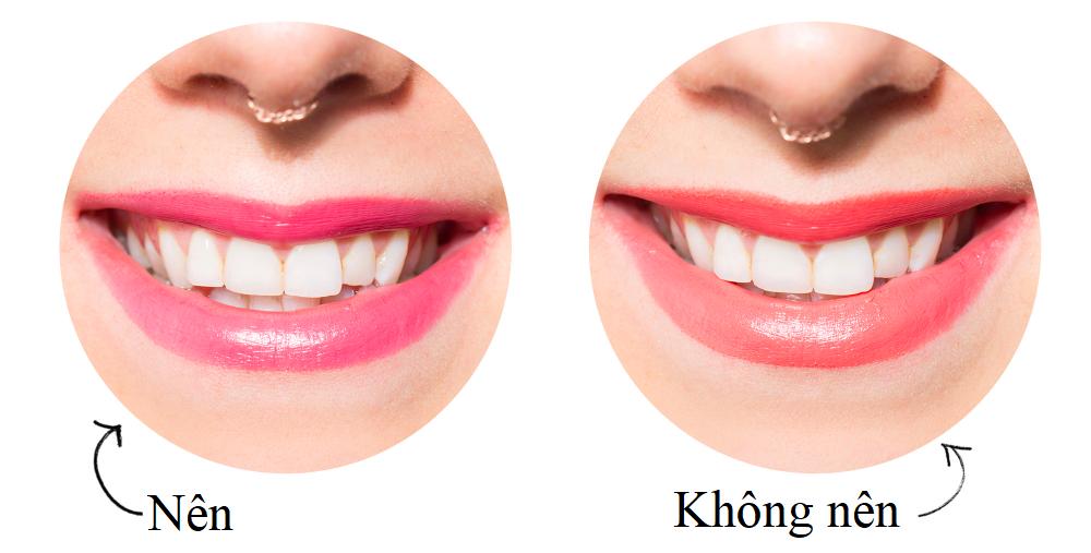 chọn son môi tránh làm xỉn màu răng