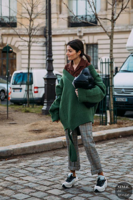 street style với giày thể thao, street style voi giay the thao